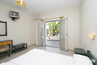 accommodation milos studios bedroom amenities