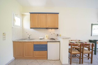 accommodation milos studios equipped kitchen