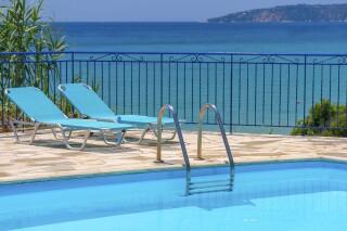 milos family studios with swimming pool in kefalonia